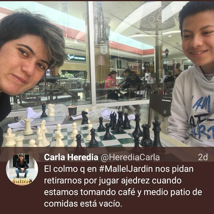 Mall el jard n se disculpa con ajedrecista carla heredia for Adidas ecuador quito mall el jardin